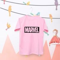Tumblr Tee / T-Shirt / Kaos Wanita Lengan Pendek Marvel Warna Pink
