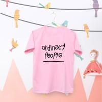 Tumblr Tee / T-Shirt / Kaos Wanita Lengan Pendek Ordinary Warna Pink