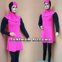 baju renang wanita muslimah dewasa dan remaja warna pink