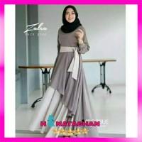 Baju Gamis Syari Terbaru / Dress Wanita Remaja Kombinasi Modern