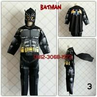 Baju Kostum Anak Karakter Superhero BATMAN 8-11 Tahun