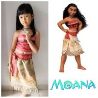 Kostum Anak Moana Gratis Kalung Dress Gaun Baju Pesta Ultah