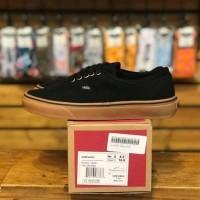 sepatu vans authentic sol coklat warna hitam grade original terbaru