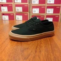 sepatu vans authentic sol coklat terbaru warna hitam grade original