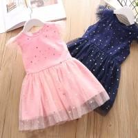 Baju pesta anak dress ulang tahun Tutu pink & Biru impor Putri Balita