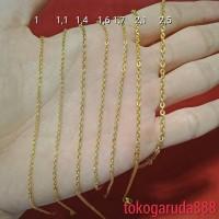 Anak : Rantai kalung emas asli kadar 700 22k 70 holo murah kilat UBS