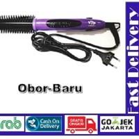 Catokan Rambut VJP 561 - Alat Catok Lurus Curly dan Blow 3in1 - Ungu