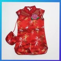 dress rose imlek baju anak kids 2-6thn maxi gaun cheongsam congsam