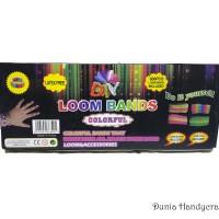 DIY Loom Bands Pelangi Bahan Kerajinan Tangan Set Loom Bands Rainbow