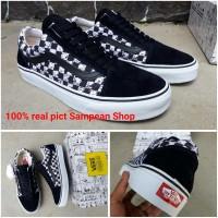 Sepatu Vans Oldskool Old Skool PEANUTS Catur Checkerboard Black White