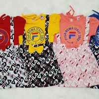 Baju Dress Anak Bayi Perempuan Overall Kodok Fila
