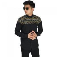 Kemeja batik panjang pria cowok baju etnik slimfit AS-26