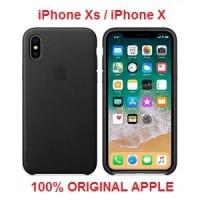 100% ORIGINAL APPLE iPhone X Leather Case -Black