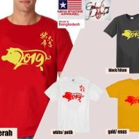 Kaos Baju Imlek 2019 Tahun Babi Beruntung - 19