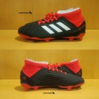 Adidas Predator 18.3 FG JUNIOR - Black Red. Sepatu Bola Anak Ukuran 38