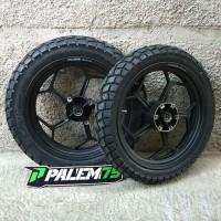 Wheelset Supermoto KLX 150 S L BD - Paket Ban Velg Racing 17 300 350