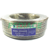 Kabel Speaker Audio 2x50 Transparant 20 AWG PARAGON SNI 1 Rol 50 Meter