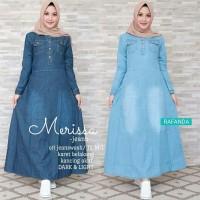 Merissa Maxy jeans maxi gamis jeans baju jeans wanita baju busui murah