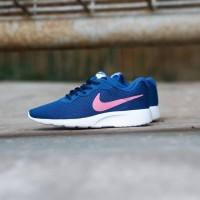 Sepatu wanita Nike Tanjun Biru dongker Navy Pink Original Murah