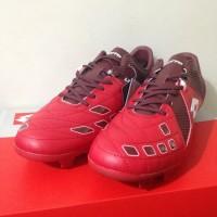 Sepatu Bola Lotto Squadra FG Dark Red White Original
