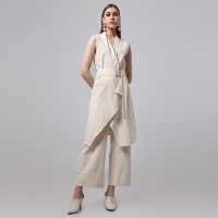 OAK LONG VEST CREME LOOKBOUTIQUESTORE