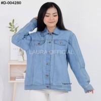 BAJU CEWEK Baju Jaket Jumbo Jeans Aurora Big Size XXL Lengan Panjang