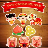 Topper kue / Cake Banner 17x22cm Imlek / Chinese New Year 02