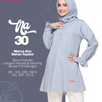Baju Atasan Blouse Muslim Nibras NA 30 Abu