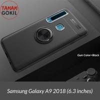 Samsung A9 2018 Case Autofocus Invisible Iring Soft Case - Hitam