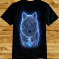 Kaos Wolf Light Blue Kaos 3d Wolf Baju Serigala Baju 3d Serigala