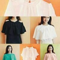 N0109 H Top Broadro Baju Atasan Wanita Cewe Blouse Bahu Pundak Bolong