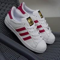 Sepatu Adidas ORIGINAL Superstar FP White Pink