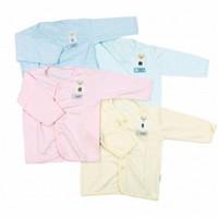 FLUFFY Baju Lengan Panjang Kancing Depan Bayi
