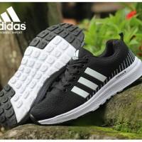 Sepatu Sneakers Wanita Adidas Neo Women Black White Import Casual