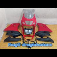 Fairing fullset depan ninja rr old merah cabe polos original Kawasaki