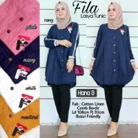 Baju Atasan Wanita Muslim Blouse Fila Lasya Tunik Hana 3