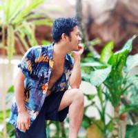 Baju Pantai Bali Hawaii Summer Kekinian Beachwear Grey