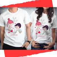 Baju Pakaian Kaos Couple Anniversary Valentine - H39