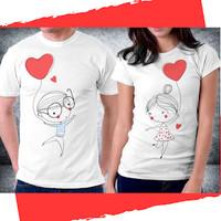 Baju Pakaian Kaos Couple Anniversary Valentine - H46
