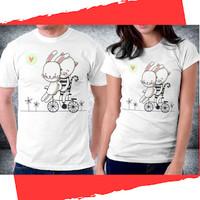 Baju Pakaian Kaos Couple Anniversary Valentine - H51