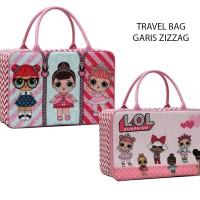 Tas JINJING Travel Bag Anak LOL Surprise Bahan Kanvas - Pink
