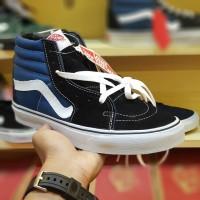 Sepatu Vans Sk8 Hi Classic Navy Blue Black White - Vans Sk8 Hi Biru