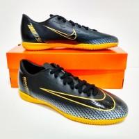 SEPATU FUTSAL Nike Mercurial CR7 IC New Grade Ori (Black Gold)