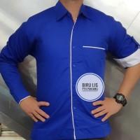 Seragam Kombinasi Baju Kerja Panjang Kemeja Seragam Baju Kerja Drill