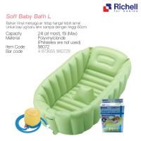 RICHELL INFLATABLE SOFT BABY BATH TUB L/ KOLAM BAK MANDI BAYI PORTABLE
