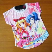 Coco Ice Anime Aikatsu White Girl T-Shirt LKC013