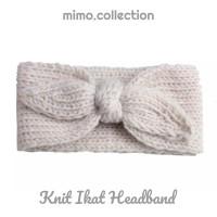 Knit ikat Baby Headband Bando Bandana Rajut Knot Turban Anak Bayi