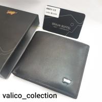dompet pria model tidur import kulit BB03-12 - Hitam