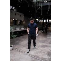 Polo Shirt Kaos Pria Polos | Wangky Basic | Lacoste Cotton | Biru Navy