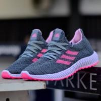 Sepatu Sneakers Wanita Adidas ZX4000 4D Abu Pink Casual Import